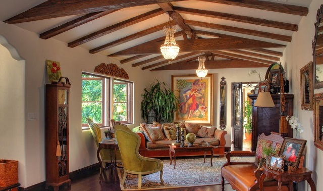 Casa mexicana tradicional interior