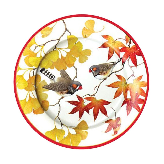 Platos desechables otoño