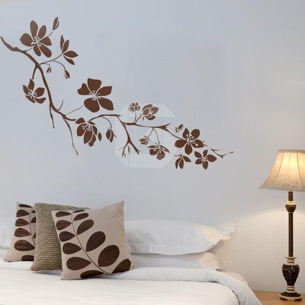 Vinilo de flores para dormitorio