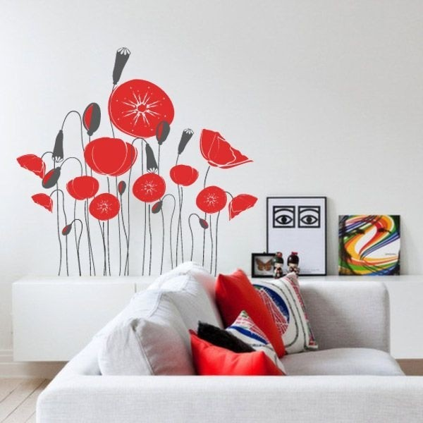 Vinilo de flores para sala de estar