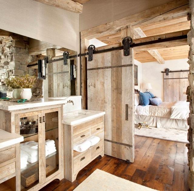 Decorar baño rústico suelos madera