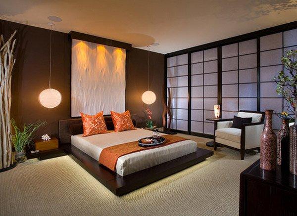 Dormitorio decoración oriental