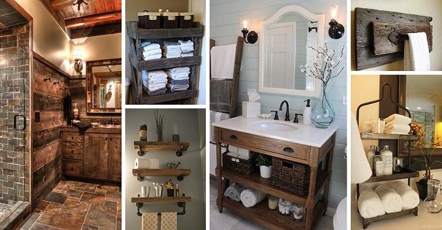 Ideas para decorar baños rústicos