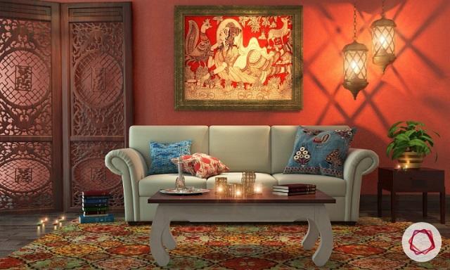 Sala de estar decoración oriental 3