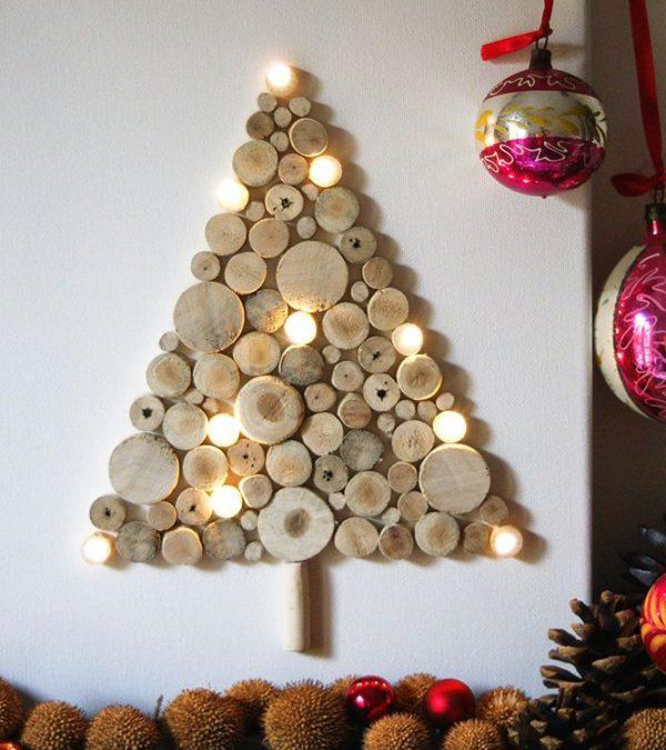 5 Árboles de Navidad DIY de madera fáciles de hacer