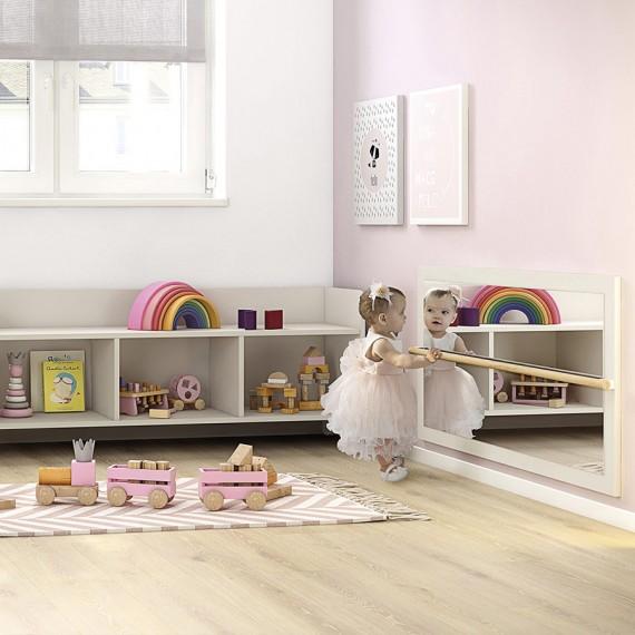 Espejo con barra Montessori