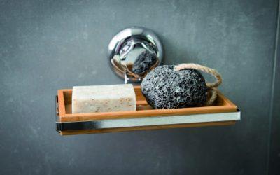 Almacenamiento de baño sin agujeros en la pared