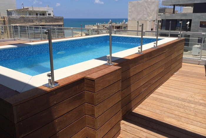 High pool penthouse terrace