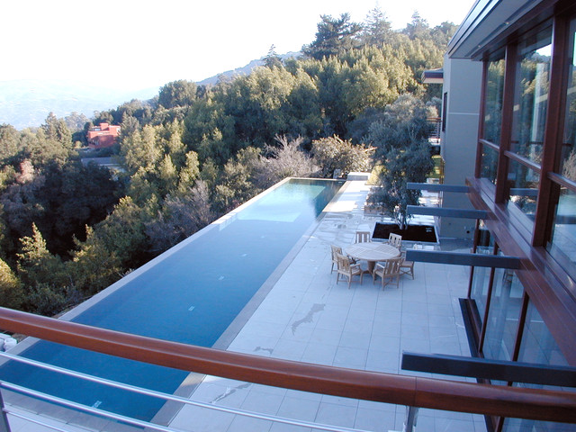 Pool edge terrace
