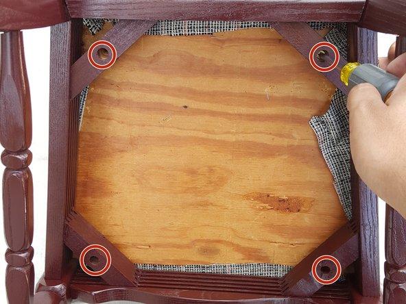 Tutorial restaurar silla madera antigua paso 10
