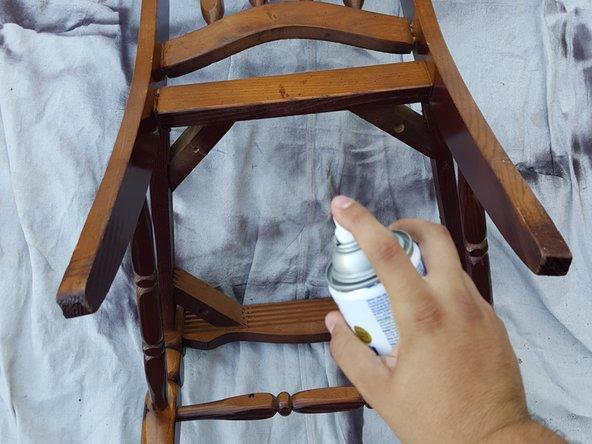 Tutotorial restaurar silla madera antigua paso 4