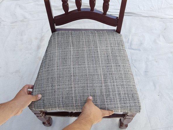 Tutorial restaurar silla madera antigua paso 9