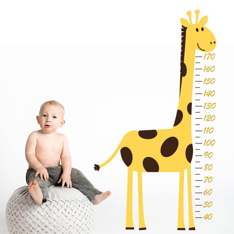Vinilo medidor jirafa dormitorio infantil