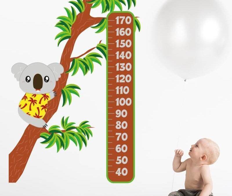 Vinilos medidores para decorar un dormitorio infantil