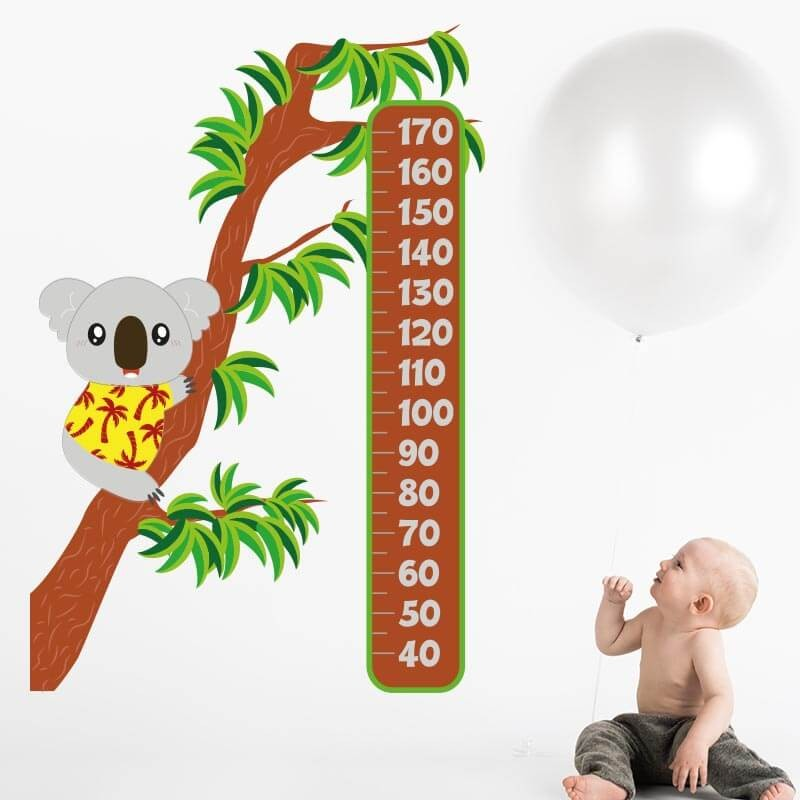 Vinilo medidor koala dormitorio infantil
