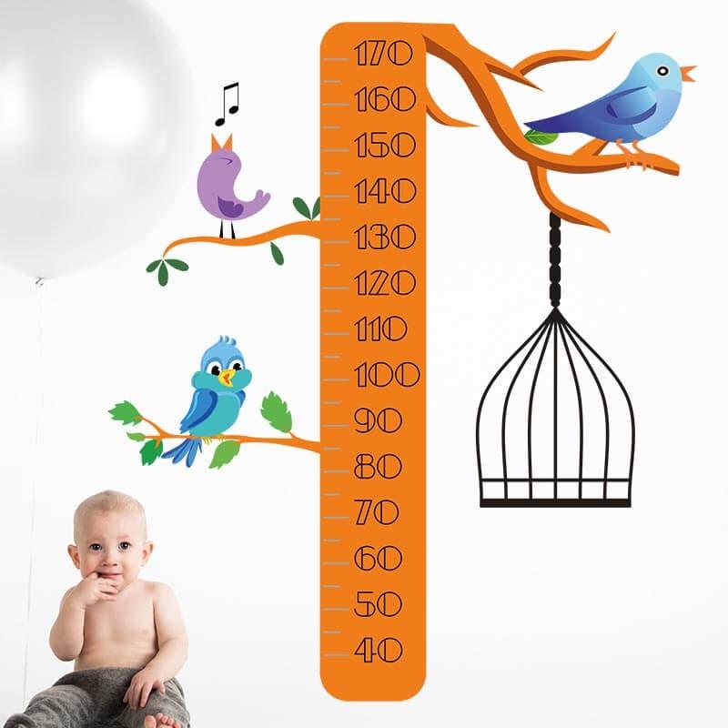 Vinilo medidor árbol dormitorio infantil