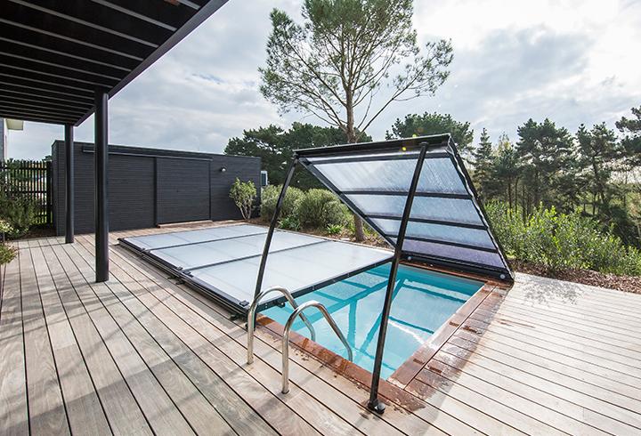 Cubierta piscina movible