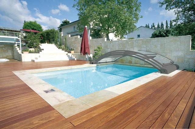 Cubierta piscina telescópica