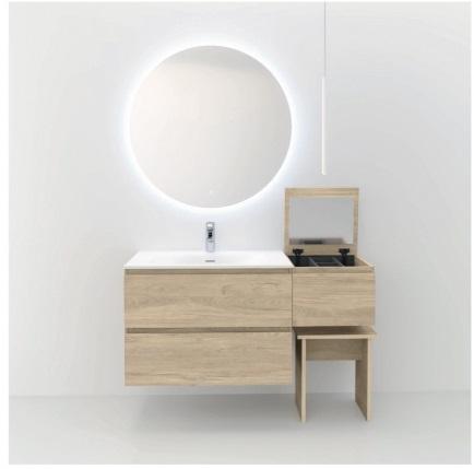 Muebles de baño madera clara