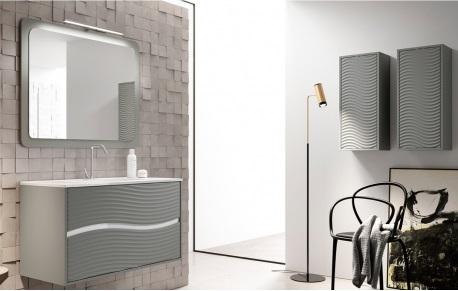 Muebles de baño con textura