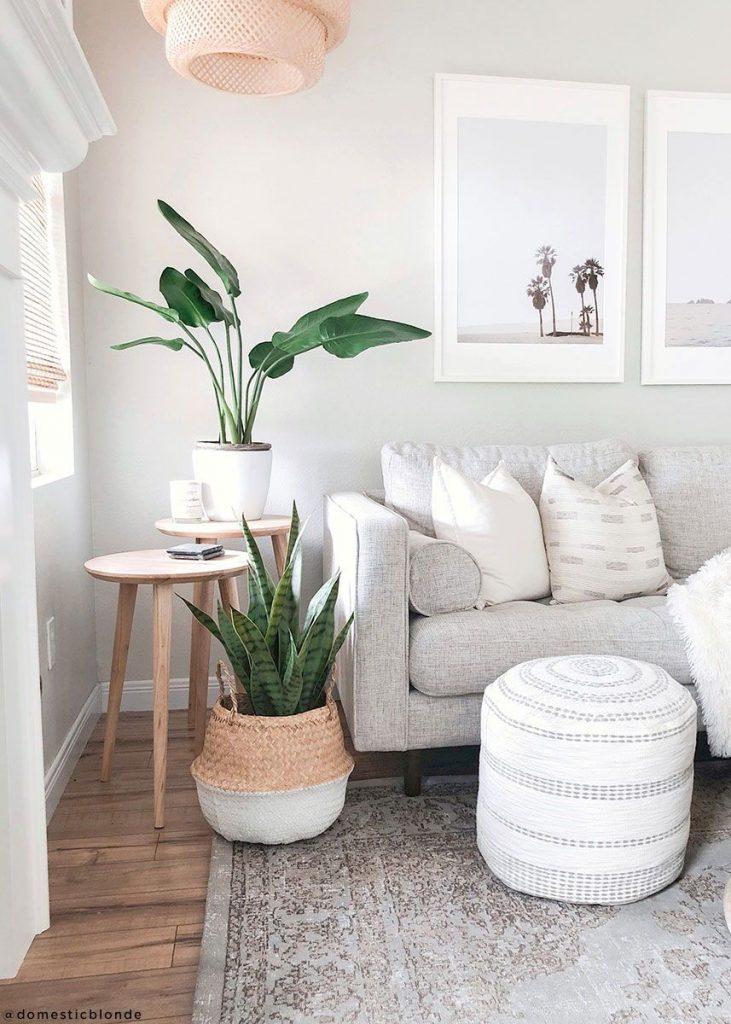 Ideas decorar sala de estar pequeña, colores claros