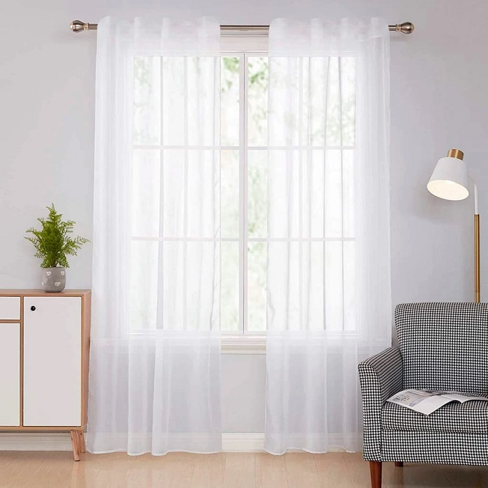Ideas decorar sala de estar pequeña, visillos