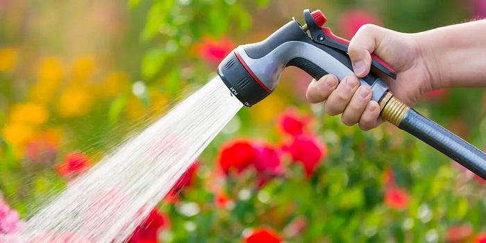 Manguera para regar el jardín