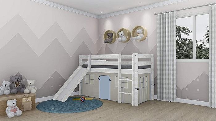 Cama infantil original casa y tobogán