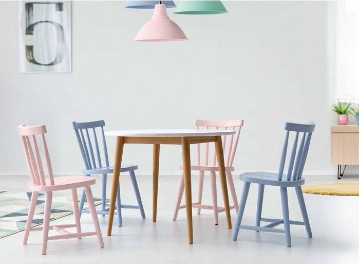 Mesa de comedor redonda moderna