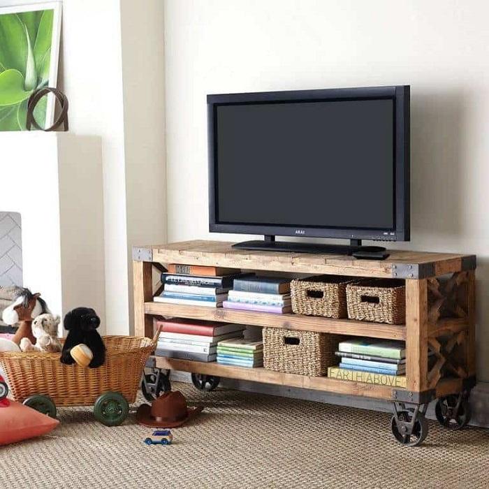 Mesa de tv con ruedas