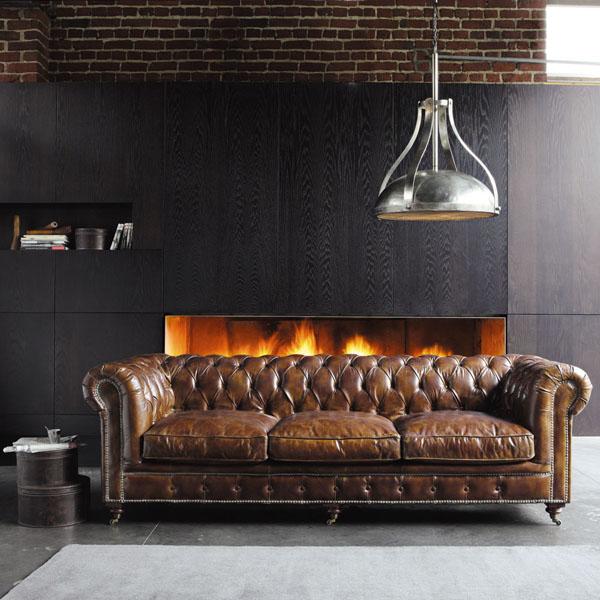 Sofá Chester original en un ambiente moderno