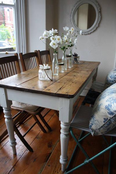 Mesa refrectorio restaurada