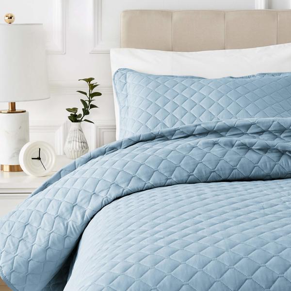 Colcha azul clásica
