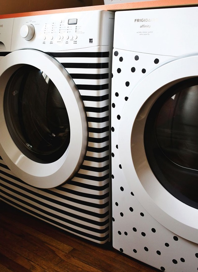 Decorar una lavadora con vinilos decorativos