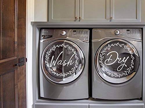 Decorar una lavadora con vinilos de frases