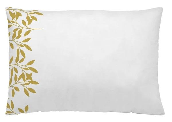 Funda almohada blanca y estampada