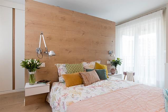 Dormitorio moderno y romántico