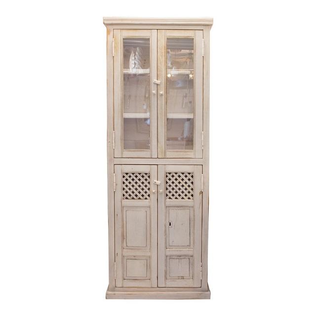 Alacena vintage blanca