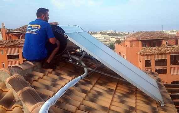 Placas de energía solar térmica