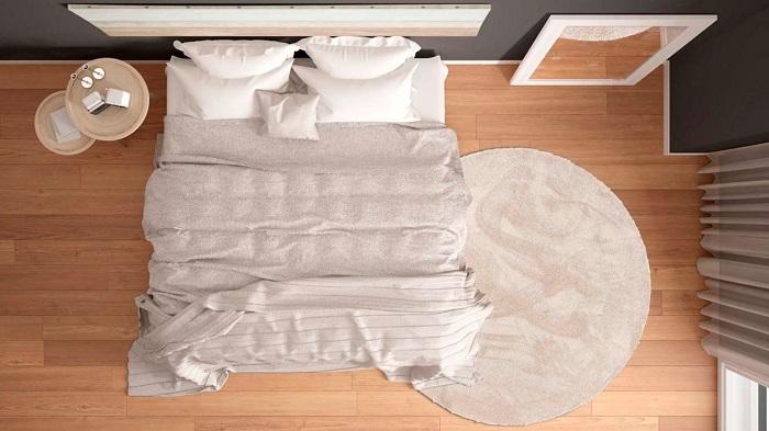 Alfombra redonda para dormitorio