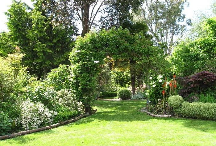 Herramientas para cuidar un jardín grande