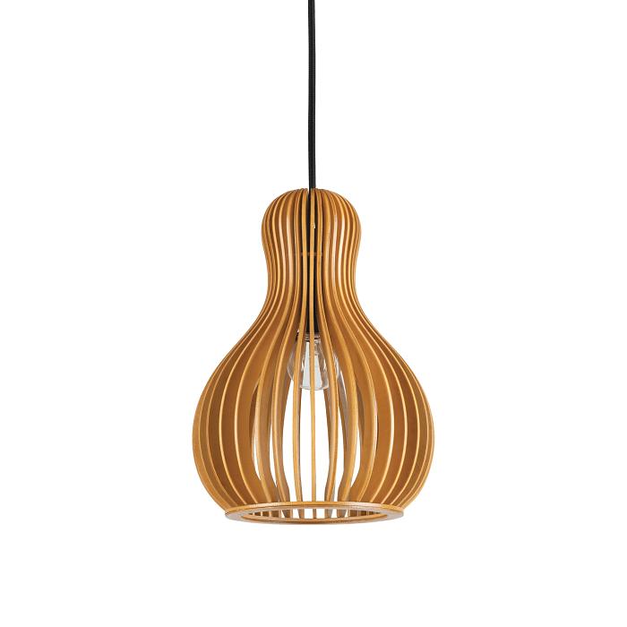 Lámparas colgantes con pantalla de madera