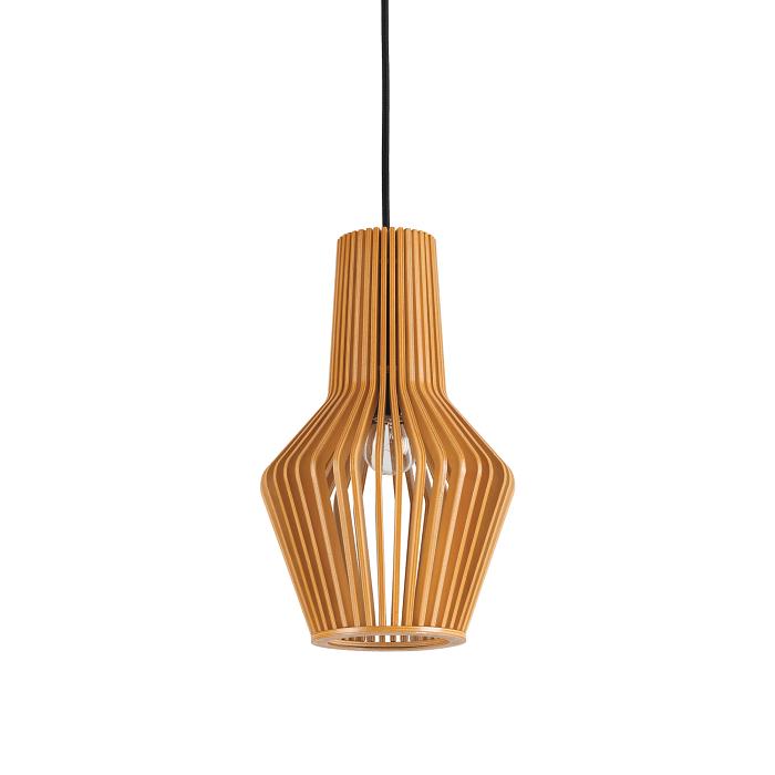 Lámparas colgantes con pantalla de madera 2