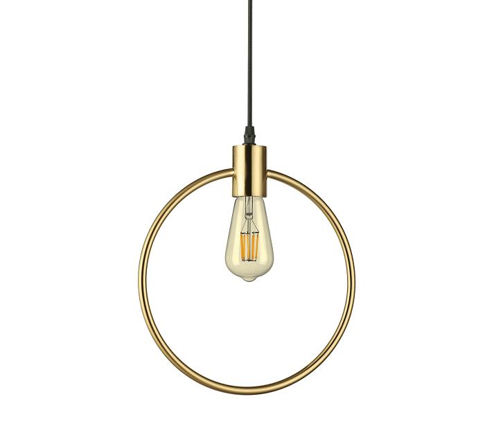 Lámparas colgantes con marco de latón circular