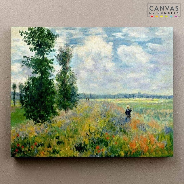 Campos de amapolas de Monet