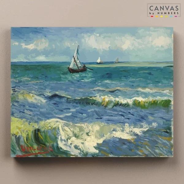 The sea at les Saintes, de Van Gogh