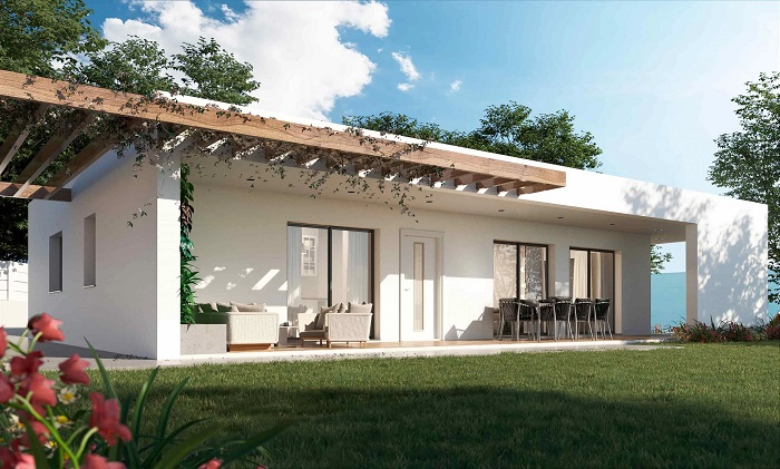 Casa prefabricada mediterránea