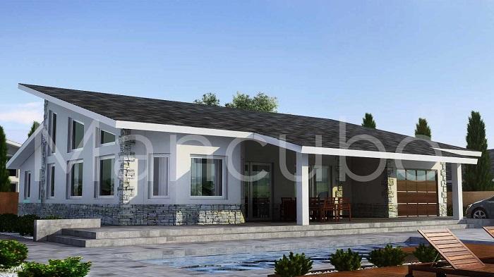 Casa prefabricada clásica pizarra