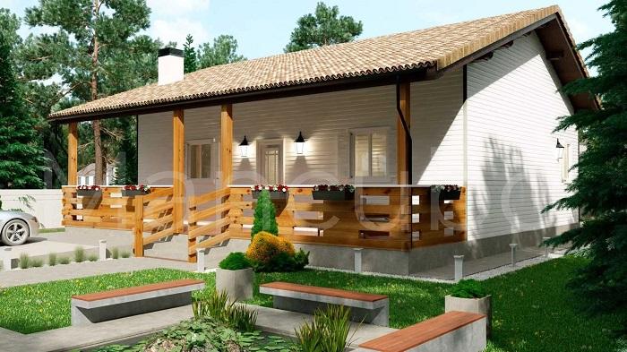 Casa prefabricada madera blanca