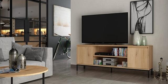Mueble de tv madera color roble barato